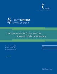 Clinical Faculty Satisfaction in the Workplace - AAMC's member profile