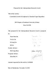 Proposal for the Undergraduate Research Award Title of the Activity ...