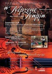 nepzene napja szoro.indd - Kecskeméti Kulturális és Konferencia ...