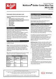 60:40 Tin-Lead Alloy Solder Data Sheet
