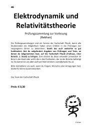 Elektrodynamik und Relativitätstheorie - Fachschaft Physik - HTU