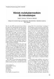 Klinisk molekylærmedisin: En introduksjon - Pediatrisk Endokrinologi
