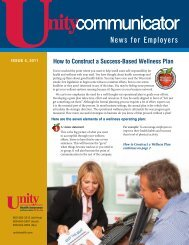 Issue 4, 2011 - Unity Health Insurance