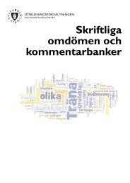 Skriftliga omdömen och kommentarbanker - Pedagog Stockholm
