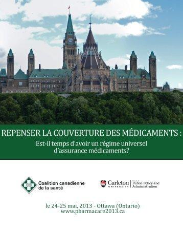 programme officiel de la conférence - Canadian Health Coalition