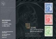 AUSGABE 1. Februar 2012 5. März 2012 - Philatelie Liechtenstein