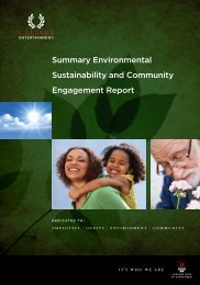 Summary Environmental Sustainability And Community Engagement