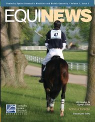 to view Equinews Articles in pdf format. - Kentucky Equine Research