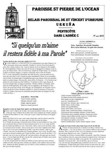 PAROISSE St PIERRE DE L'OCEAN