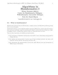Here - Algorithms in Bioinformatics - Universität Tübingen