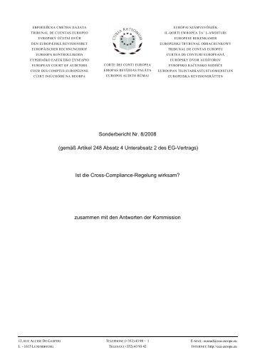 Ist die Cross-Compliance-Regelung wirksam? - Heft 8/2009 S. 314