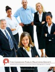 La société canadienne des relations publiques The ... - CPRS Calgary