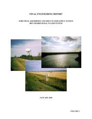 Cover and Table of Contents - Fort Peck Assiniboine & Sioux Tribes