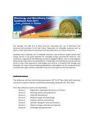 Bioenergy and Biorefinery Conference – Southeast Asia 2011 ...
