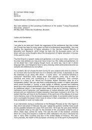 Dr. Hermann Müller-Solger Bonn, 09.05.03 Federal ... - tuning project