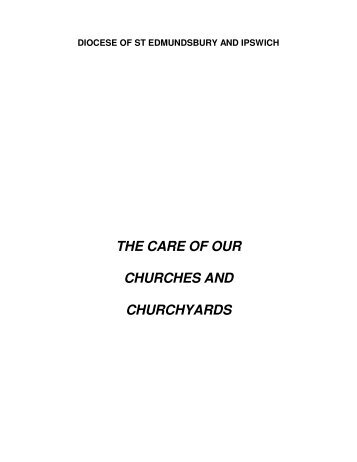 the care of our churches and churchyards - The Diocese of St ...