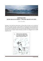 Auf den Spuren der Eisbären - Natur- und Landschaftsfotografie