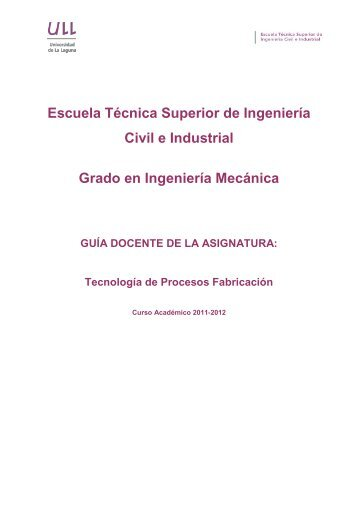 Tecnología de Procesos Fabricación