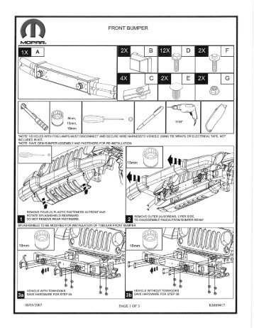 Jeep Wrangler Front Bumper Installation Instructions - Jeep World