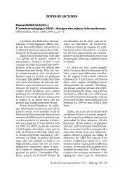 L'année stratégique 2006 - Recherches internationales