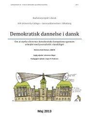 Demokratisk dannelse i dansk. Om at styrke elevernes ... - Folkeskolen
