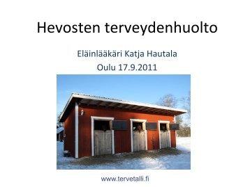 Hevosen terveydenhuolto - ProAgria Oulu