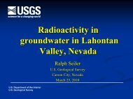 Radioactivity in Groundwater in Lahontan Valley, Nevada