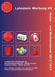 Katalog 2012/13 - Lahnstein-Werbung KG