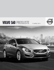 """VOLVO S60 PREISLISTE 15. MÃ""""RZ 2010"""
