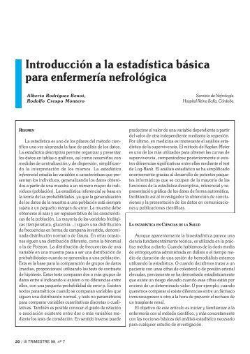 Introducción a la estadística básica para enfermería ... - revista seden