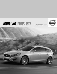 VOLVO V60 PREISLISTE 01. SEPTEMBER 2010