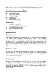 Jahresprogramm des Runden Tisches für 2002 - Agenda-wuerselen ...