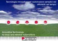 Tecnologia innovativa per automazioni semplici ed affidabili nel ...