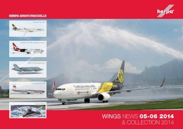 WINGS NEWS 05-06 2014 & CollECtioN 2014 - Herpa