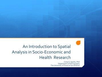 Dr. Spark's Presentation Slides - Texas Census Research Data Center