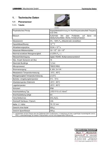 Datenblatt der Feuchtmessung Litronic-FMS II - Meyer Messtechnik
