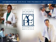 ACPE Communications - Accreditation Council for Pharmacy ...