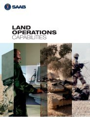 Land operations capabilities - Saab