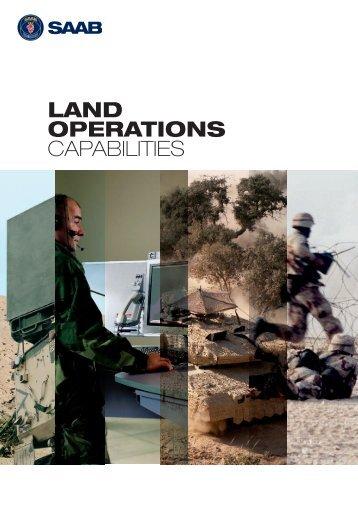 Land operations capabilities - Saab