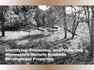 Identifying, Evaluating, and Preserving Minnesota's Historic ...