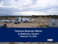 TREATING BRACKISH WATER IN SANDOVAL COUNTY - WESTCAS