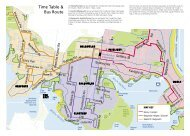 Time Table & Bus Route - Manly Council