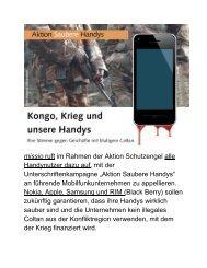 Blutige Handys,Coltanabbau im Kongo (PDF-Datei)