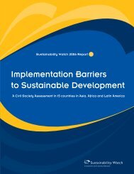 IMPLEMENTATION BARRIERS TO SUSTAINABLE ... - Civicus