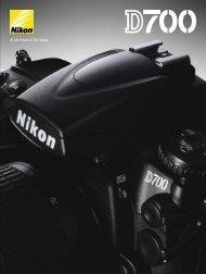 Nikon D700 Body Brochure - Vistek