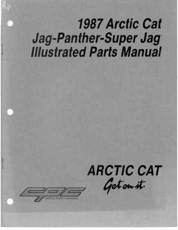"1987 Arctic Cat"" Jag;.Panther;.Super Jag"" Illustrated ... - Vintage Snow"