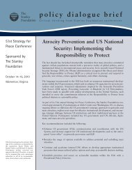 Atrocity Prevention and US National Security - The Stanley Foundation