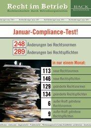 Compliance-Test-Januar 2013 - RACK rechtsanwaelte