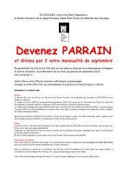 Devenez PARRAIN - Le Centre Forestier de la région Provence ...
