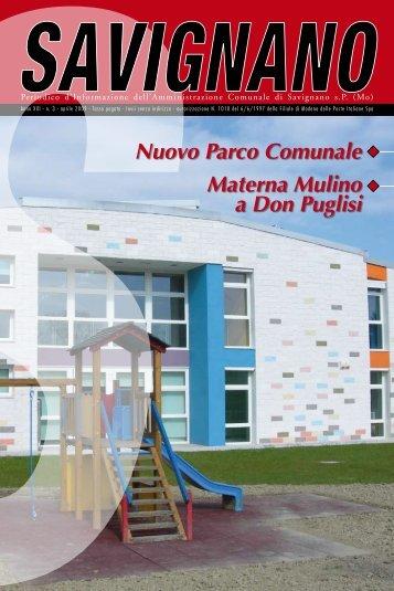 N. 3 aprile 2009 - Comune di Savignano sul Panaro